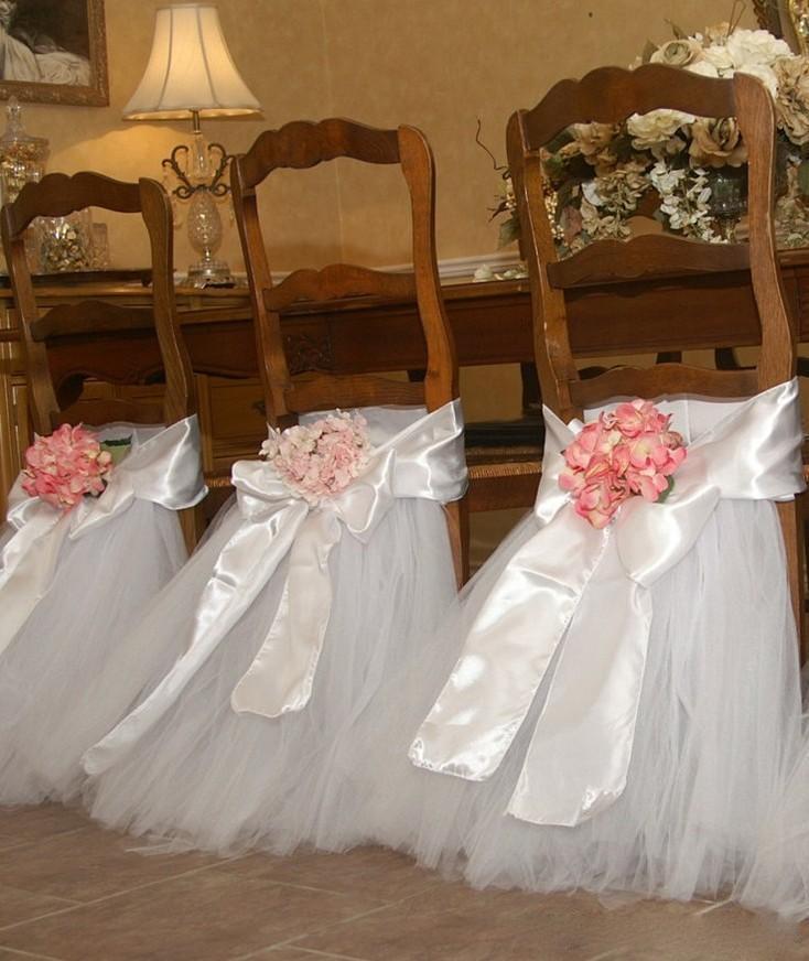 Tutù di tulle bianco puro tulle sedia telai in raso arco telaio personalizzato gonna sedia volant decorazioni di nozze coperture della sedia forniture festa di compleanno