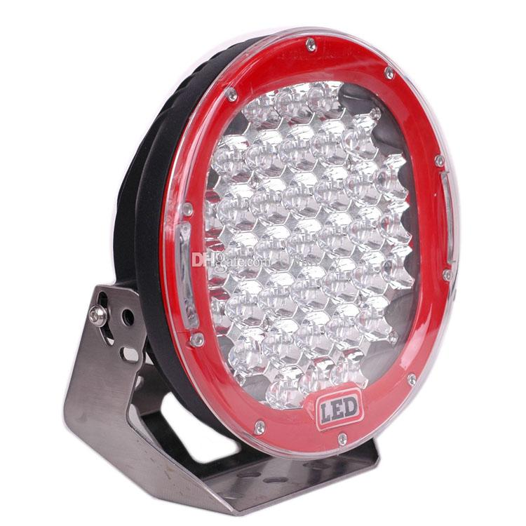 9'' 185W CREE LED Work LIGHT 12V 24V Flood Spot 37X5W Round LED Driving Lights 4x4 Truck 4WD SUV Jeep ATV Off road Fog Lamp