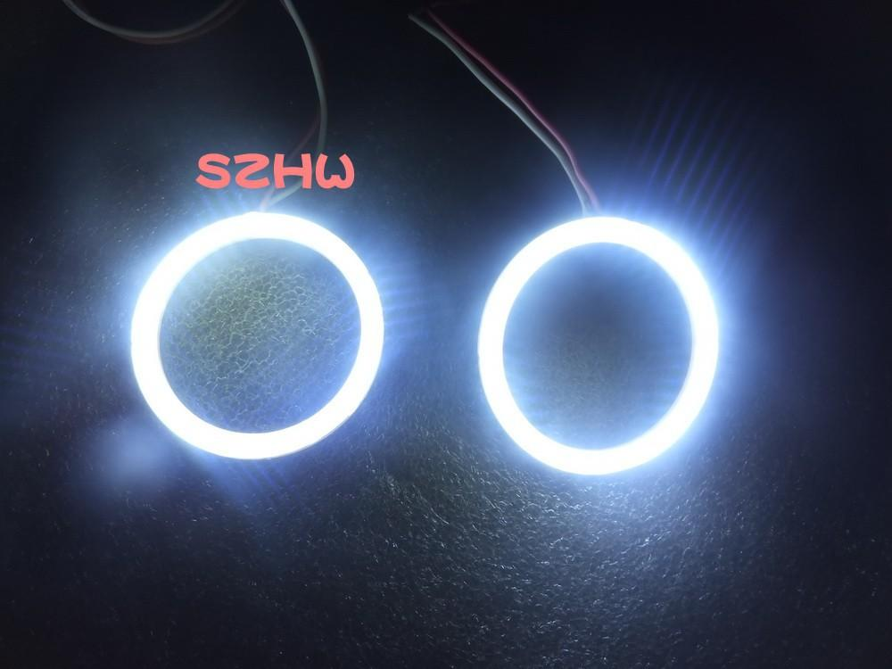 50mm Dış çapı, 2 adet, Süper parlak su geçirmez LED melek gözler yüzükler, COB lens, Q5 Hella, büyük lamba, Araba Dekoratif Işıklar