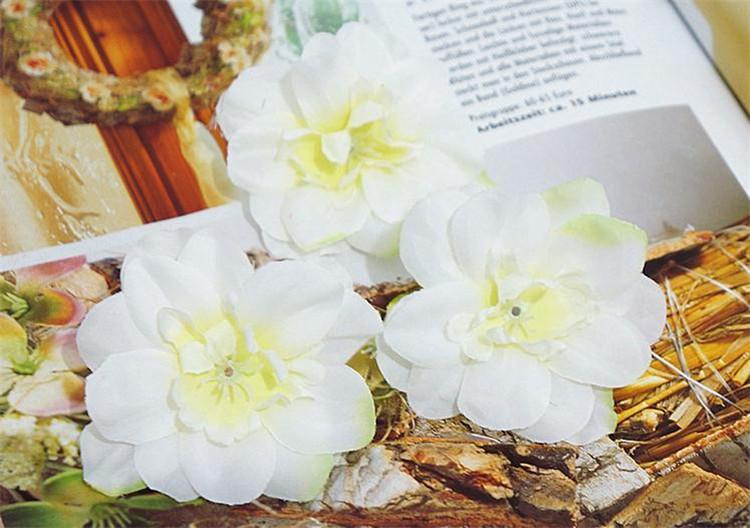 """Silk Spring Swallows Flower Head Dia. 7 cm / 2,76 """"600 Stücke Künstliche Kamelie für DIY Kopfschmuck Blumen Zubehör Hochzeit Herzstück"""