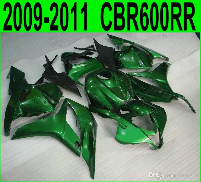 Injection molding Customize fairing kit for Honda CBR600RR fairings 2009 2010 2011 black green motobike CBR 600 RR 09 10 11 YR14