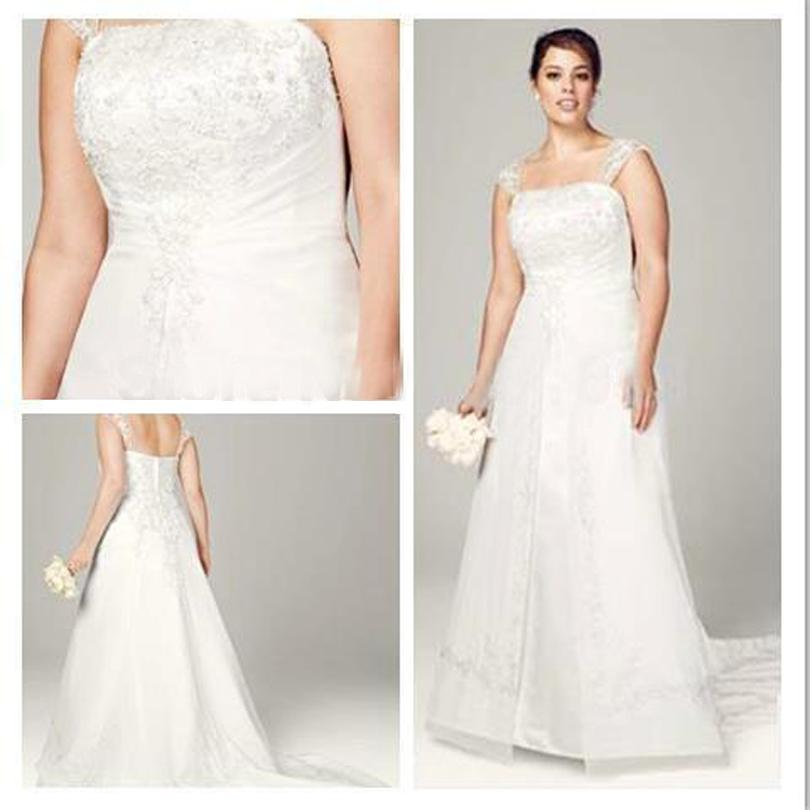 Made of Chiffon and Tulle a Line Wedding Dresses