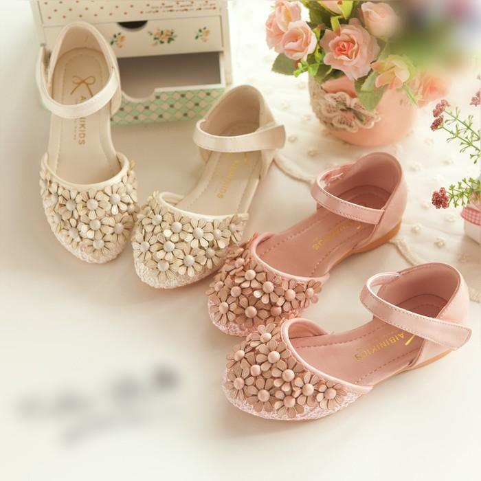 Cute Ivory Pink Flower Kids Shoes For Wedding Formal Event Party Flower  Girlu0027s Shoes In Stock ...
