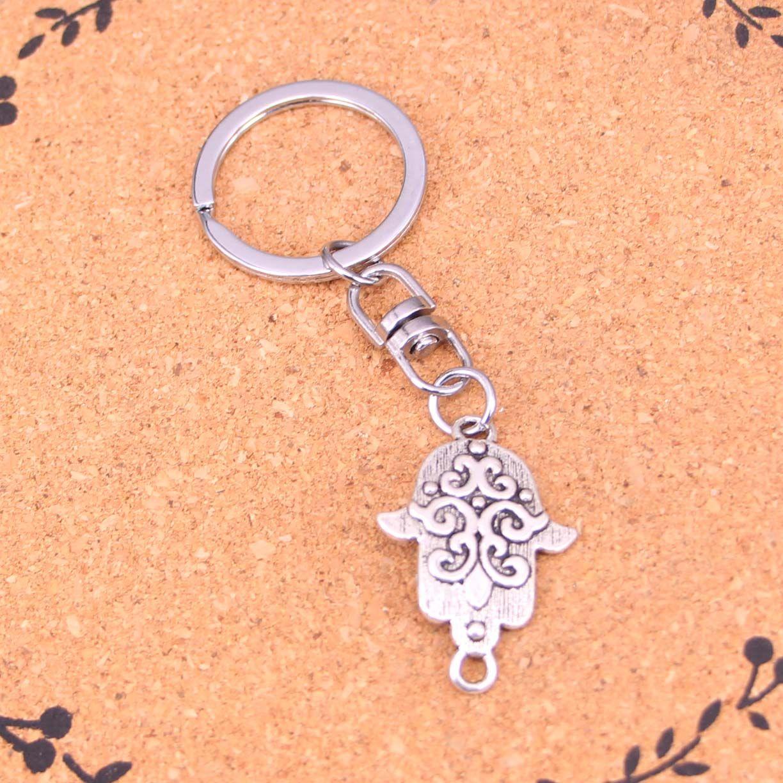 New Arrival Novelty Souvenir Metal hamsa palm protection Key Chains Creative Gifts Apple Keychain Key Ring Trinket Car Key Ring