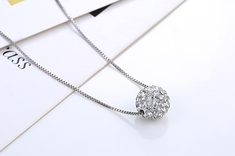 2019 Hot Various Designs Crystal Pendant Silver Ball Chain Necklace for Girls