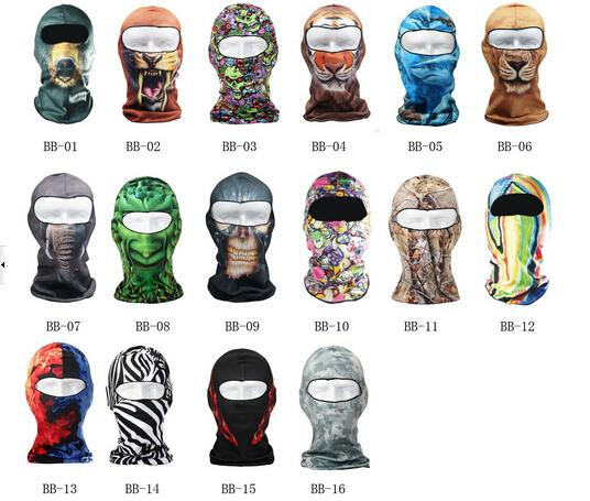 3D Cycling Bicycle Motorcycle Skull Cap Balaclava Headgear Hats Full Face  Mask 3f8e9d81823