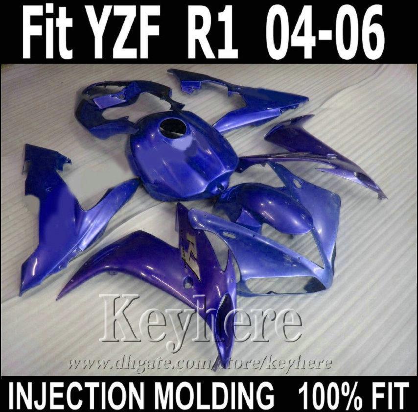 Литье под давлением 100% подходит для обтекателей YAMAHA R1 2004 2005 2006 синий обтекатель YZF R1 04 05 06 XFW29