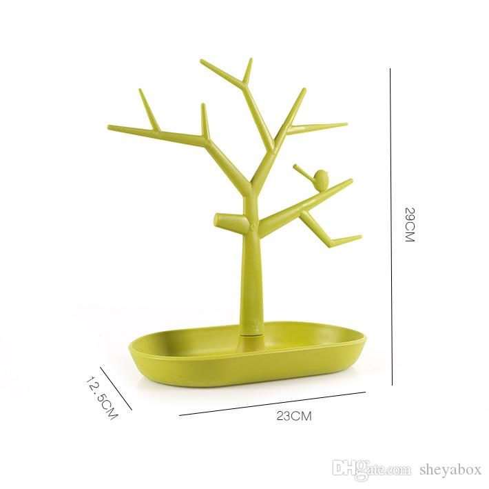 2020 Tree Branch Jewelry Holder Tray Plastic Jewellery Display Stand Rings Hook Earrings Necklaces Organizer For Counter Desktop 11 Inch High From Sheyabox 11 86 Dhgate Com