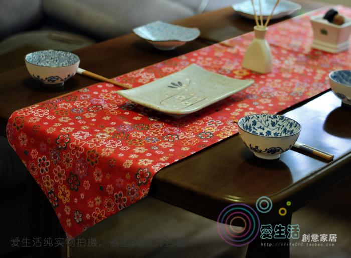 Runners Freeshipping Rushed New Limited Tablecloth Handmade chinese japanese Style Wedding Table Runner Red Embroidery Home Hotel Decoration