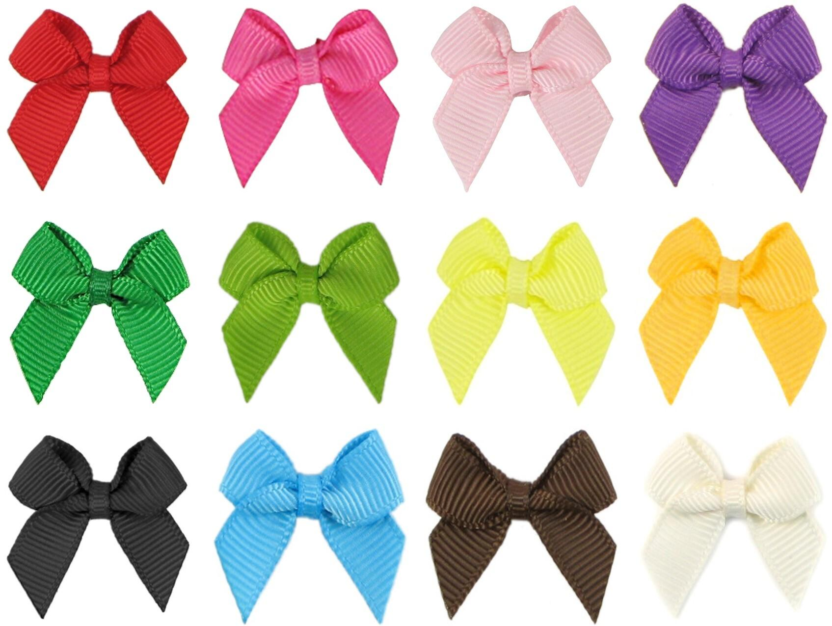 "100 sztuk 2 ""Grosgrain Wstążka Mini łuk Cheer Bows Hair Bow Hairbow Hairwear Headdereads Headserteading bez klipu głowy"