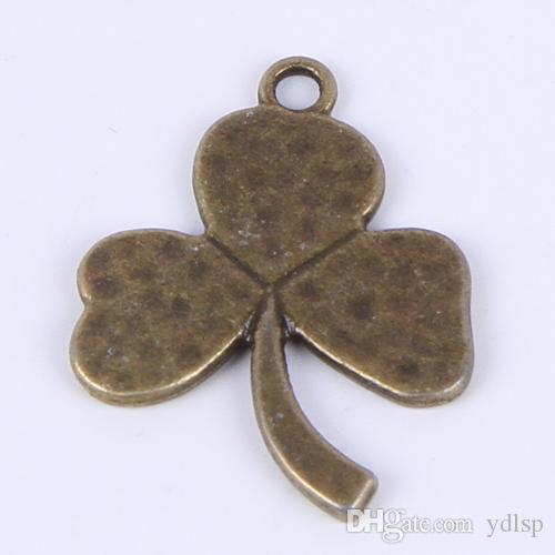 Sıcak satış moda antika gümüş / bronz retro trefoil DIY takı kolye fit Kolye veya bilezik charm 300 adet / grup 053