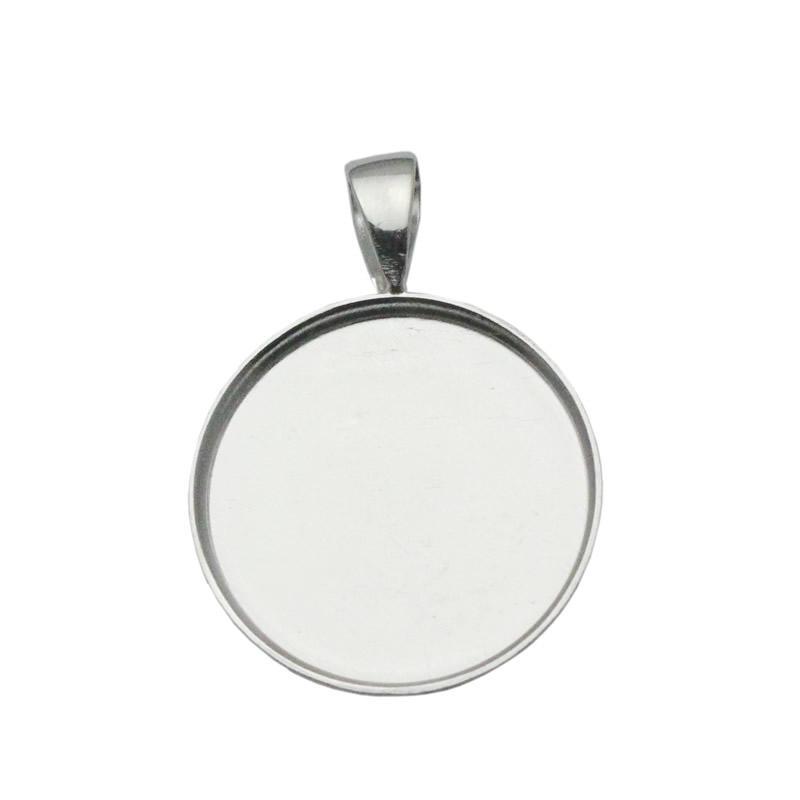 BeadSnice 19mm ronde hanger dienblad 925 sterling zilveren cirkel bezel instelling voor munt groothandel sieraden bevindingen ID 33827