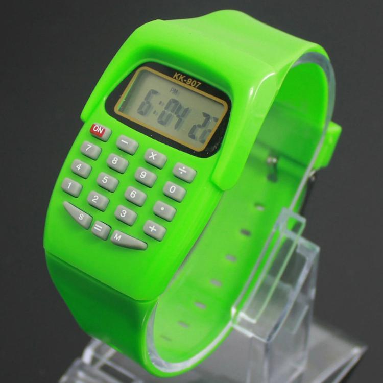 Neue Ankunft Multifunktions Uhren 8-stellige Rechner Silikon Uhren Prüfung Digitaluhr Student Supplies Drop Shipping WH-096
