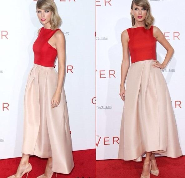 Fashion Red and Pink Satin Evening Dresses Front short and Long Back Formal Events Gowns Affordable Prom Dresses