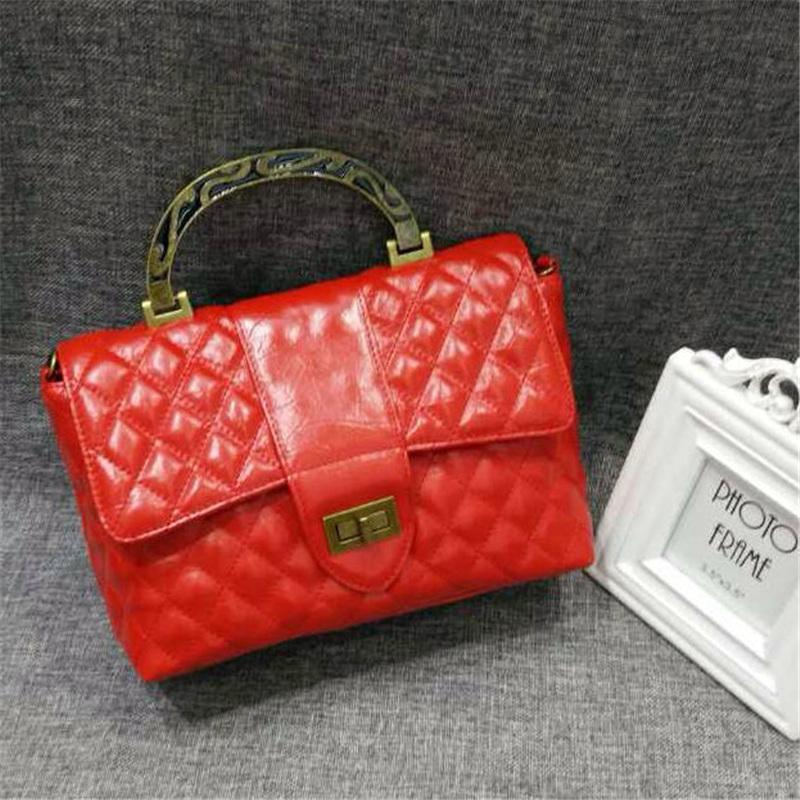 Diamond Lattice Fashion Ladies Totes with Metal Straps Designer Girls Handbags Cell Phone Pocket Best Design Handbags for BL3883