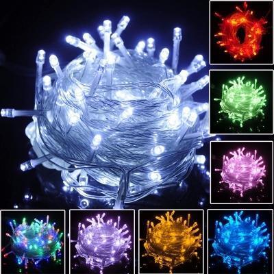 크리스마스 문자열 조명 10M 100LEDs 110 V / 220 V LED 문자열 조명 7 색 LED 크리스마스 요정 조명 크리스마스 장식 문자열 X'mas