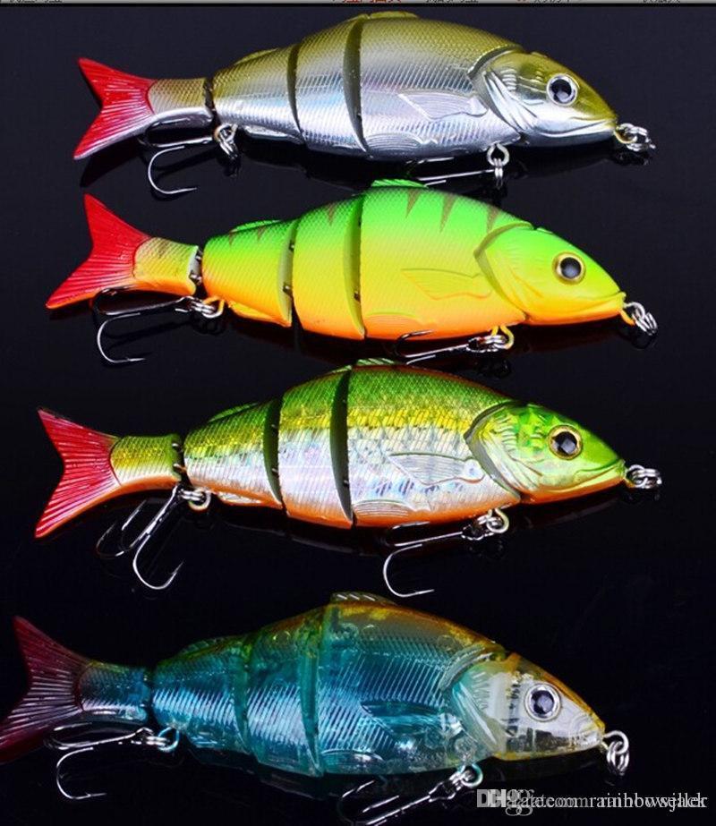 5 أقسام كبيرة الصيد السحر المالحة crankbait 12.8 سنتيمتر 22 جرام 5 قطاعات باس الطعم مع 4 # الصيد هوك