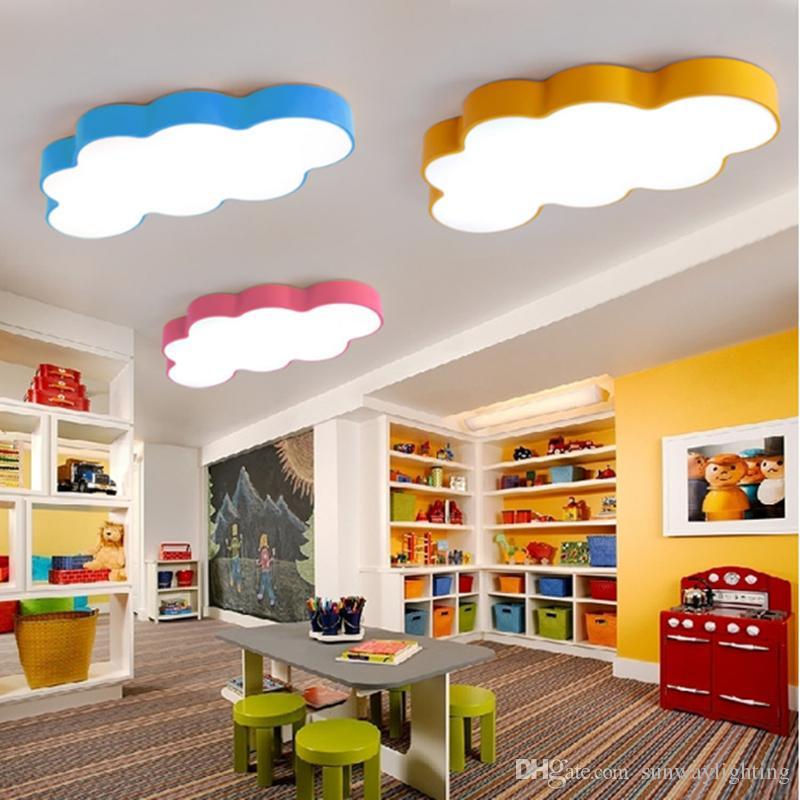 Creative Kids LED Room Lighting Children LED Ceiling Lamp Baby Ceiling  Light 5 Colors Choose For Boys Girls Bedroom
