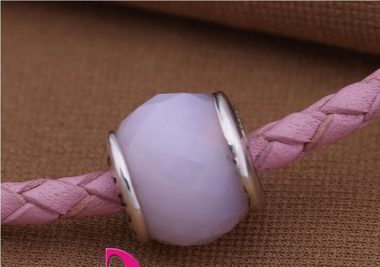 Murano glazen kralen melk roze losse kralen fits voor pandora armbanden mode fijne sieraden groothandel gratis verzending