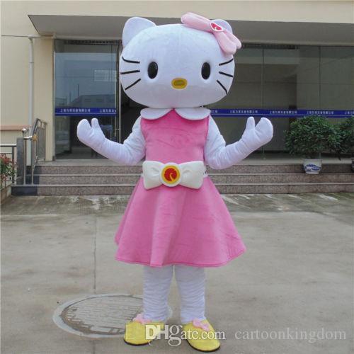 Großverkauf der Fabrik 2018 erwachsenes Größen-Rosa hallo KT-Maskottchen-Kostüm geben Verschiffen Gfit frei