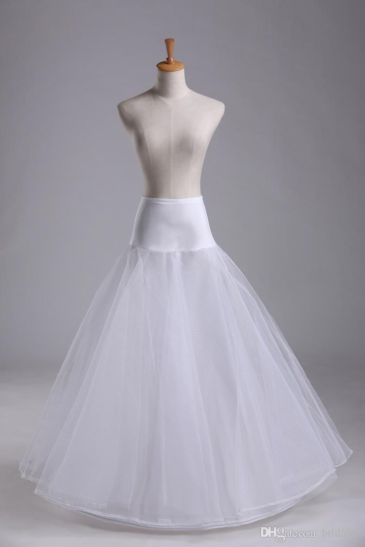 2019 جديد يصل 100٪ جودة عالية ألف خط 1- طارة 2-طبقة تول الزفاف العرسان تنورة التنورة الفضائية الأقطرية فستان الزفاف