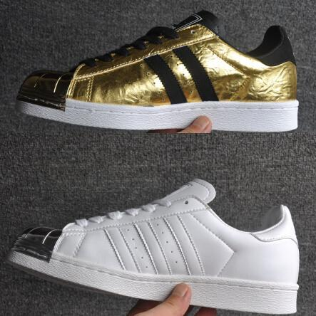 2020 Womens And Mens Superstar 80s Metal Toe Gold And Silver Sports Shoes Top Quality Running Shoes Lovers Sneakers Drop Shipping From