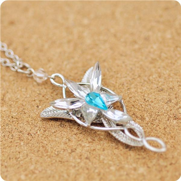 The lord of rings inspired newest even star arwen blue crystal the lord of rings inspired newest even star arwen blue crystal pendant necklace 2018 from unnarjewelry 296 dhgate mobile aloadofball Images