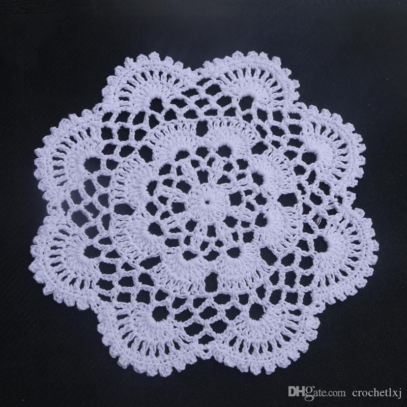 24 pcs in ~ Delicate design crocheted doilies for wedding, handmade coasters table mats for home, DIY doilies for dream catchers ~ ROUND