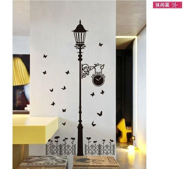 Road Lamp Wall Art Decal Sticker Zebra Cute Cat Road Light Wallpaper Decor Home Decoration Sticker Mix Order Wall Art Decal