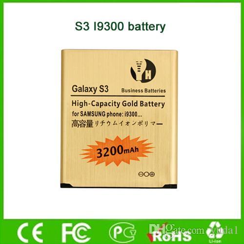 3200mAh Goldbatterie für Samsung Galxy S3 I9300 9300 i747 T99 hohe Kapazitäts-bewegliche Batterie-Fabrik-direkter Großverkauf
