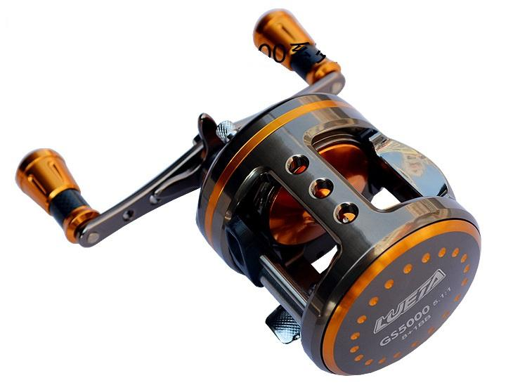 Frete grátis CA Series versão atualizada GS6000 Todo o Tambor de Liga de Alumínio - Tipo carretel de pesca 8 + 1BB Estrada sub Blackfish wheel-5