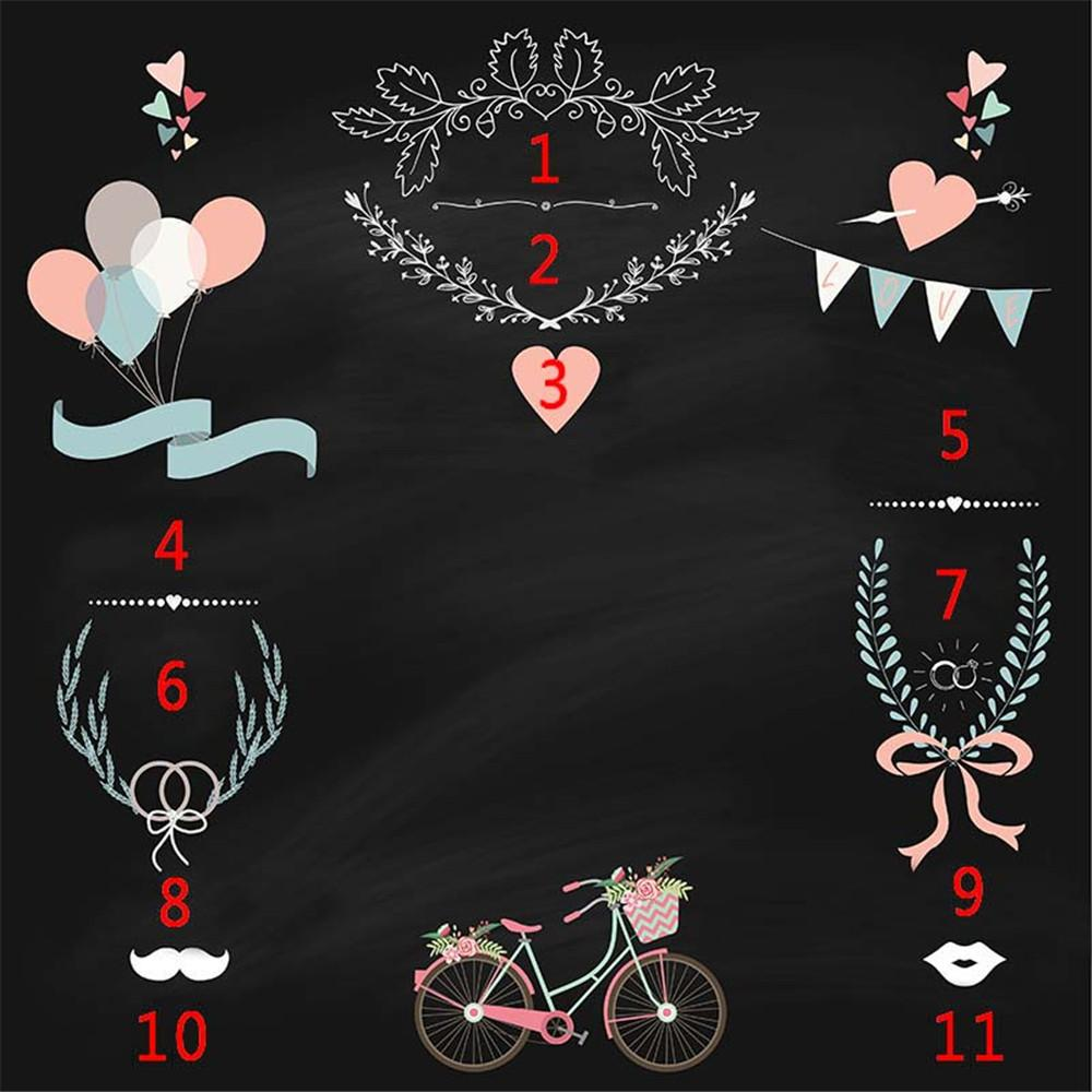 2020 Customized Printing Wedding Photography Backdrops Vinyl Fabric Blackboard Flower Balloons Bicycle Diy Photo Studio Background Banner From Backdropstore 16 73 Dhgate Com
