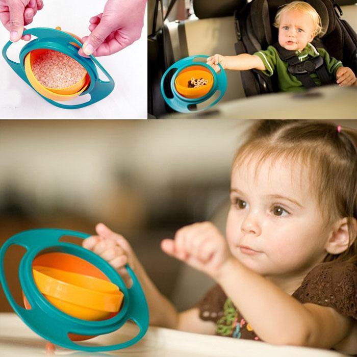 Resuli Venta Caliente Nuevos Niños Kid Bebé de Juguete Universal 360 Rotar A Prueba de Derrames Tazón platos freeeshipping Ventas Al Por Mayor CB1