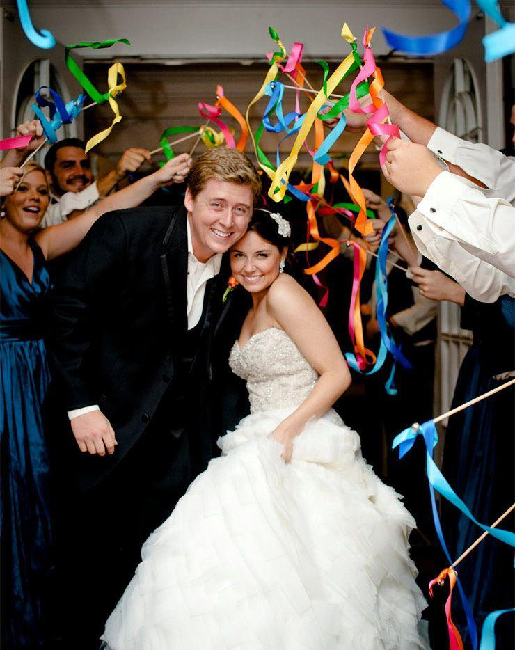 (50Pieces/Lot) DIY Personalized Wedding Ribbon Sti...
