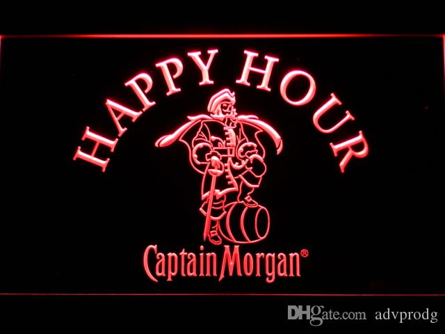 629 Captain Morgan Happy Hour LED Neon Sign Bar Beer Decor Free Shipping Dropshipping Wholesale 7 colors to choose
