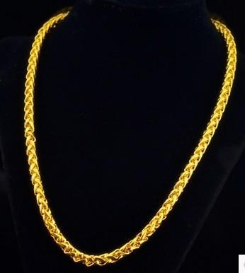 Cadeia de homens e mulheres de corrente de ouro amarelo chaming (pfmcgy88) iikyui