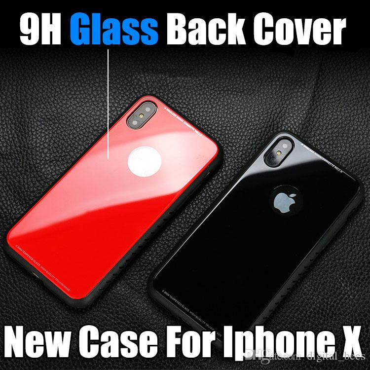 For Iphone Xr Xs Max Phone Case New Hot Selling TPU luxury Glass Back Phone Cover Mobile Cellphone Case For Iphone 8