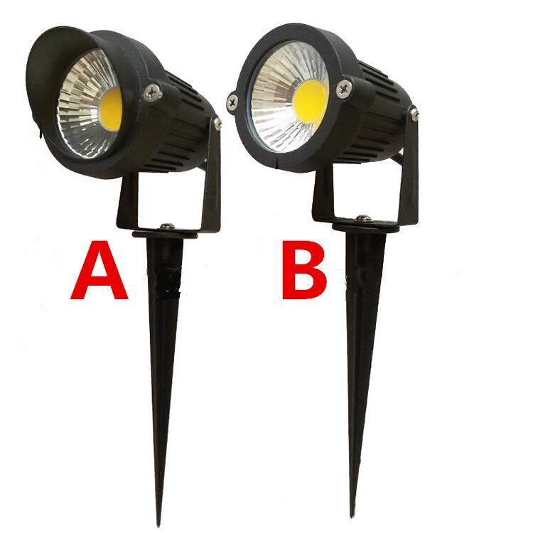 20pcs IP65屋外の景観LED芝生ライトランプ220V 110V / DC12V 7W COBガーデンスポットライトスパイクエネルギーセリウムROHS、送料無料