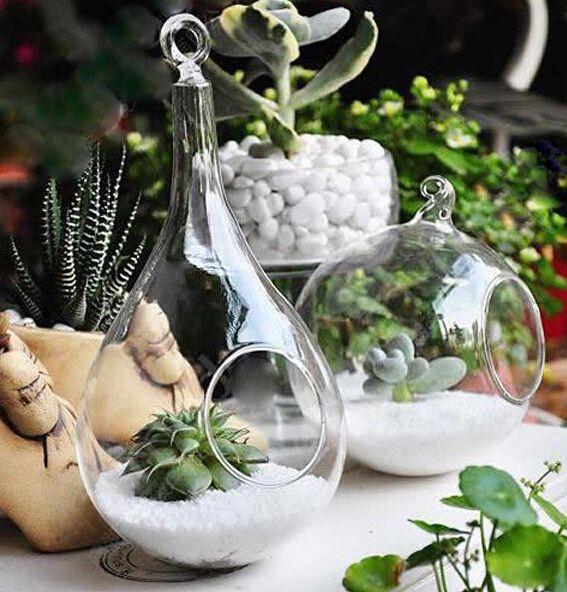 Wholesale  Glass Hanging Terrarium,hanging Glass Balls Candle Home  Decoration Succulent Terrarium Kit Home ...