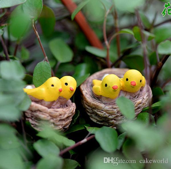 Yellowbird сказочный сад миниатюры Акварио мох террариумы смолы ремесло сад украшения птица кукольный домик декор
