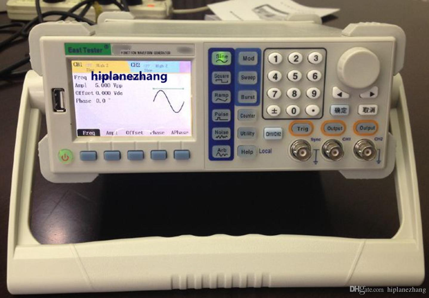 """2CH 160MSa/s DDS Function Signal Arbitrary Waveform Generator 10MHz 3.5"""" TFT LCD USB RS232 ET3310"""