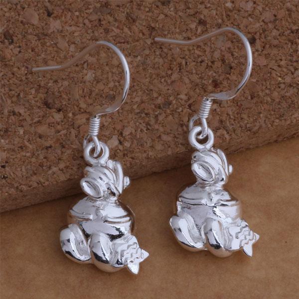 Мода (производитель ювелирных изделий) 40 шт. много животных серьги стерлингового серебра 925 заводская цена мода люстра блеск серьги