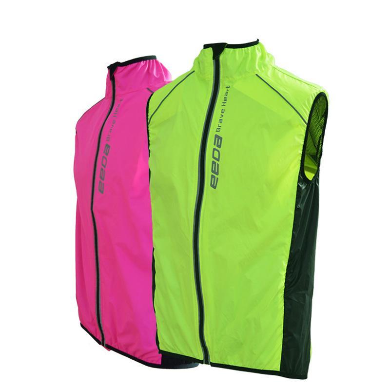 Neue Breathable winddicht Radfahren Jacke Reiten ärmellose Kleidung Weste Männer Frauen Waterpoof Fahrrad Jacke MTB Bike Sleeveless Wind Coat