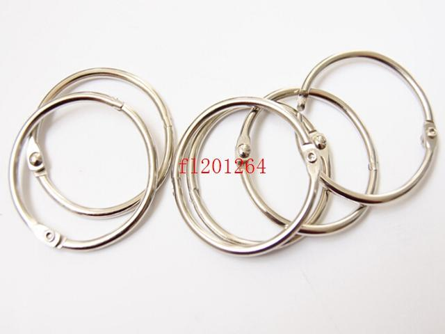 1000pcs/lot Free shipping Hot Sale 50mm Book Hoop Binding Ring Binder Hoop Loose Leaf Ring DIY keyring