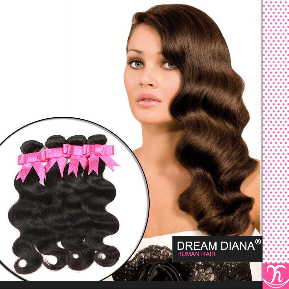 Ms Lula Hair Products 6a Estensione vergine brasiliana dei capelli 4pcs Wave nero tessuto economico online 100 capelli umani brasiliani