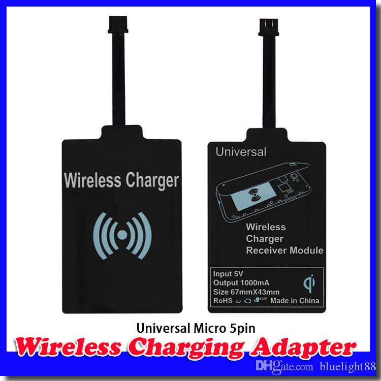 New Qi Charger Receiver Wireless Charging Adapter Receptor Receivers Pad Coil For Samsung Galaxy S3 S4 S5 Note 2 3 iphone 5/6 Micro mobile