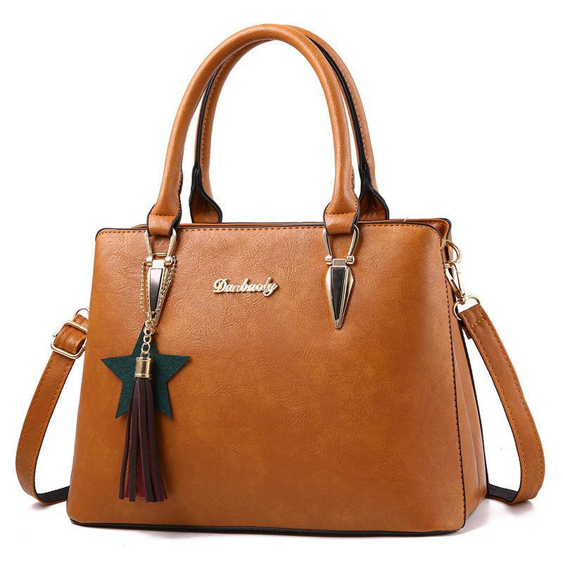 Vintage sac à main automne nouvelle grande capacité gland sac à bandoulière mère d'âge moyen sac