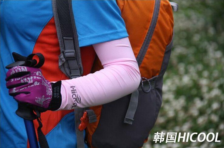 Новых продажи Взрослого мужского Stretch Спорт ВС Блок Anti UV защита перчатка Колено Длина поводковый рукав Arm Охлаждающие рукава Обложки Golf