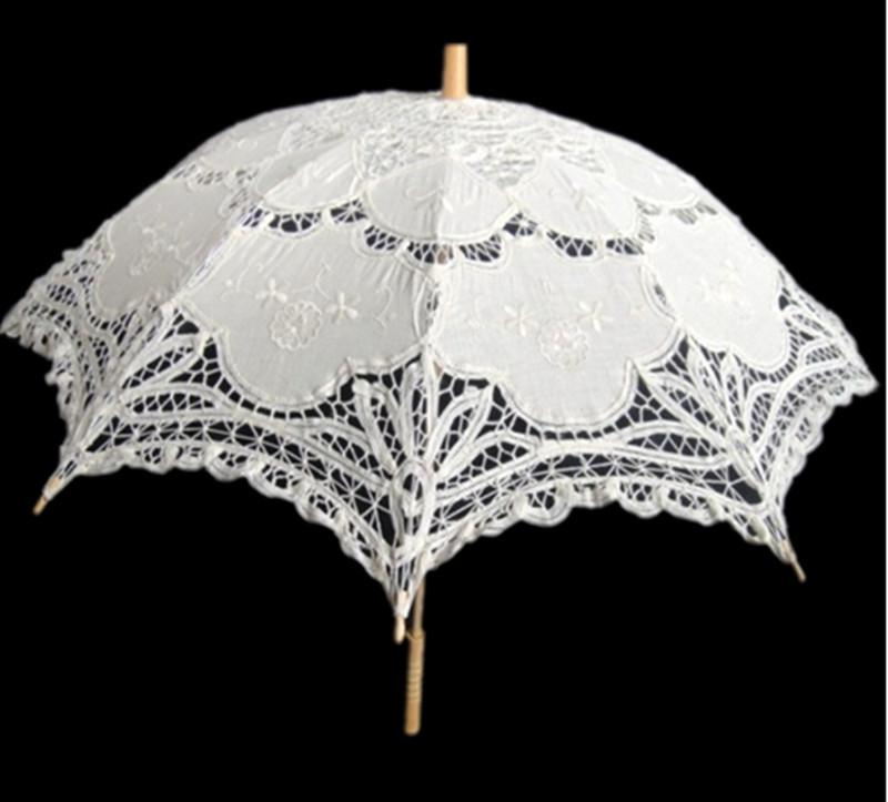 2020 New Vintage Lace Umbrella Handmade Cotton Embroidery ...