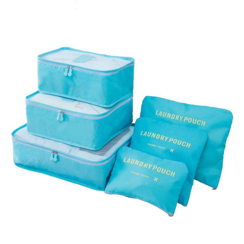 6 قطع / مجموعة النساء السفر التخزين حقيبة حقيبة الملابس مرتب منظم المحمولة الحقيبة حقيبة ملابس داخلية منظم الغسيل